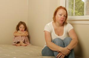 Utrygt barn og ked af det mor